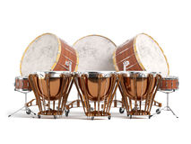 Orchestra drums isolated on white 3D rendering Royalty Free Stock Photo