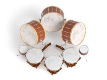 Orchestra drums  on white 3D rendering Stock Photo