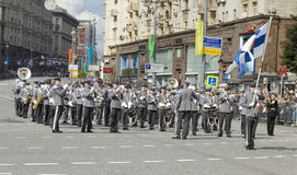 Orchestra of Finland on parade in Moscow Stock Image