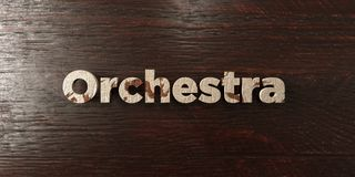 Orchestra - grungy wooden headline on Maple  - 3D rendered royalty free stock image Royalty Free Stock Photos