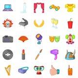 Orchestra icons set, cartoon style. Orchestra icons set. Cartoon set of 25 orchestra vector icons for web  on white background Stock Photography