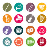 Orchestra instruments icons royalty free illustration