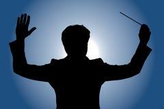 Orchestra leader royalty free illustration