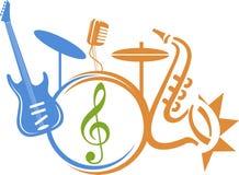 Orchestra logo Royalty Free Stock Photography