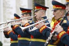 Orchestra militare Fotografia Stock