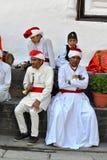 Orchestra militare nepalese Fotografia Stock