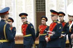 Orchestra militare su cerimonia Immagini Stock Libere da Diritti
