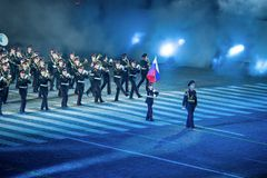 Orchestra of the Moscow military-musical school Stock Images