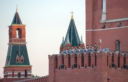 Orchestra of the Moscow military-musical school Royalty Free Stock Image