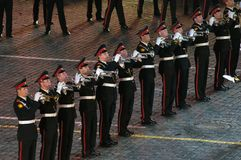 Orchestra of the Moscow Suvorov Military Music College Royalty Free Stock Photography