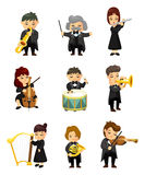 Orchestra  music player. Vector,illustration Stock Photo