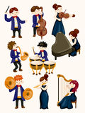 Orchestra music player. Vector,illustration Royalty Free Stock Images
