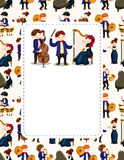 Orchestra music player card. Vector,illustration Stock Image