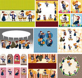 Orchestra music player card Royalty Free Stock Photography