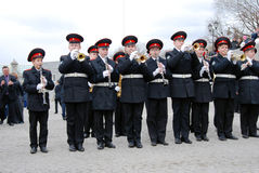 Orchestra musicians - trumpeters Royalty Free Stock Photography