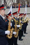 Orchestra musicians - trumpeters Royalty Free Stock Photos