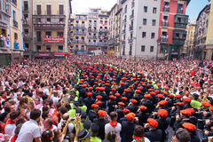 Orchestra opens the San Fermin fiesta Royalty Free Stock Image