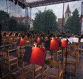 Orchestra pit in Cesky Krumlov Stock Photography