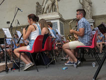 Orchestra playing live in Florence Stock Photos