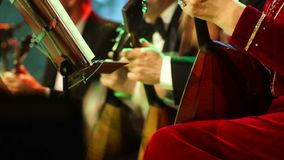 The orchestra plays music stock video footage