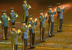 Orchestra recruits Finnish Defence Forces Royalty Free Stock Photography