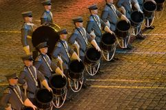 Orchestra recruits Finnish Defence Forces Royalty Free Stock Photos