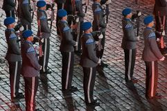 Orchestra recruits Finnish Defence Forces Stock Photo