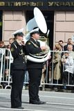 Orchestra from Russia on parade of participants of international festival of military orchestras Stock Photography