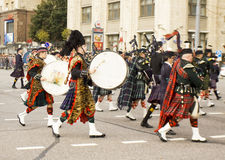Orchestra of Scotland on international festival of military orch Royalty Free Stock Photos