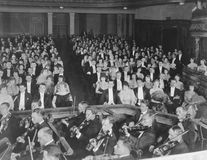 ORCHESTRA SEATS. (All persons depicted are no longer living and no estate exists. Supplier grants that there will be no model release issues stock image