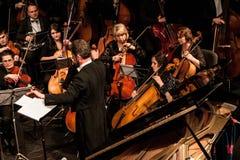 Orchestra sinfonica Fotografie Stock Libere da Diritti