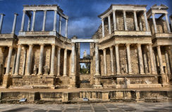 Orchestra, stage and scene of the Roman Theatre Royalty Free Stock Images