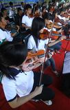 Orchestra in a street Royalty Free Stock Photography