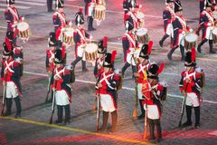Orchestra of the Swiss guardsmen Royalty Free Stock Photography