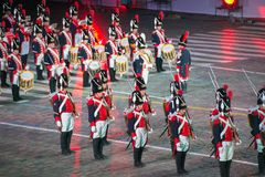 Orchestra of the Swiss guardsmen Royalty Free Stock Images
