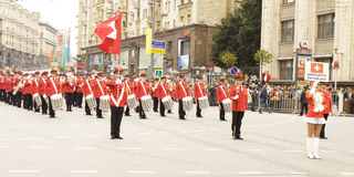 Orchestra of Switzerland on parade in Moscow Royalty Free Stock Photos