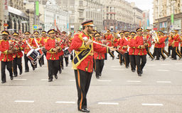 Orchestra from the United Arab Emirates on parade in Moscow Royalty Free Stock Photo