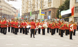 Orchestra of the United Arab Emirates on parade in Moscow Royalty Free Stock Image