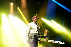 Orchestral Manoeuvres in the Dark, also known as OMD,  (band) in concert Royalty Free Stock Photo
