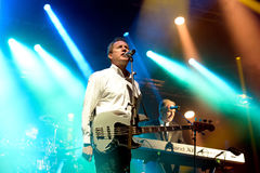 Orchestral Manoeuvres in the Dark, also known as OMD,  band in concert Stock Photography