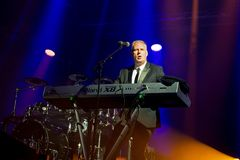 Orchestral Manoeuvres in the Dark, also known as OMD,  band in concert at Primavera Sound 2015 Royalty Free Stock Photos