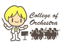 Orchestral  mascot. Education and life Character Design series. Royalty Free Stock Photography