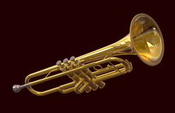 Orchestral Trumpet Royalty Free Stock Images