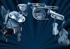 Orchestre illustration de vecteur