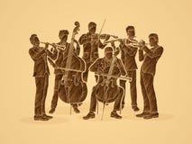 orchestre illustration libre de droits