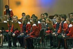 Orchestre de laiton d'années de l'adolescence Photos libres de droits