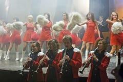 Orchestre de laiton d'années de l'adolescence Images libres de droits