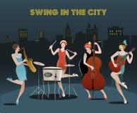 Orchestre de quatre filles d'aileron illustration libre de droits
