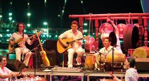 orchestre gamelan de la Malaisie de fusion Images libres de droits