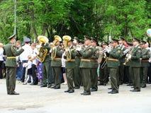 Orchestre militaire sur le défilé Images libres de droits